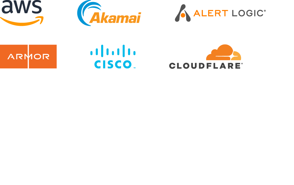 Logos of our security alliance partners