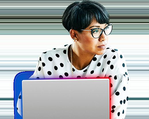 Mujer con una tableta