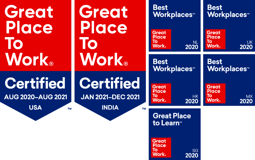 Rackspace Technology is a certified best place to work in the US, India, Netherlands, United Kingdom, Hong Kong, Mexico, and Singapore.