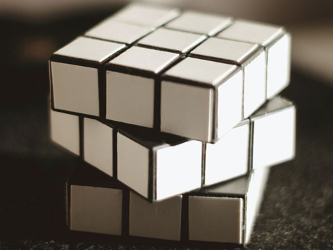 cube puzzle with all identical squares