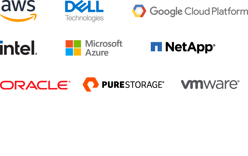 Logos of our cloud alliance partners