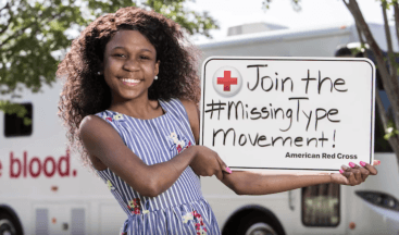 R_cksp_ce Supports the American Red Cross in its 'Missing Types' Campaign