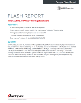 managed security services sample reports rackspace hosting