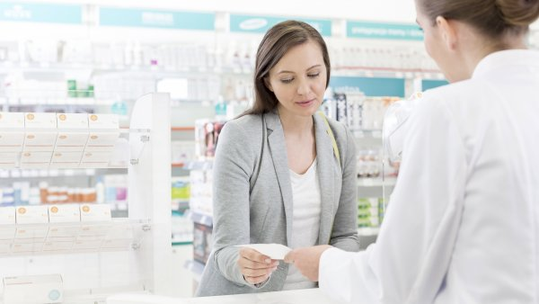 two people in the pharmacy