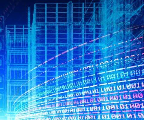 digital linkes forming buildings